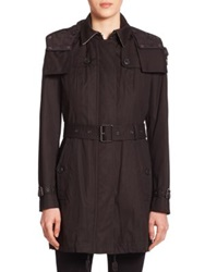 Burberry Fenstone Hooded Trenchcoat Black