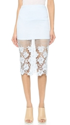 J.O.A. Floral Lace Skirt Baby Blue