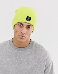 New Look Beanie In Lime Green