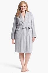 Plus Size Women's Lauren Ralph Lauren Shawl Collar Robe Heather Grey