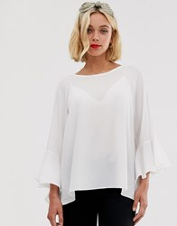Brave Soul Madrid Top With Sleeve Detail Cream