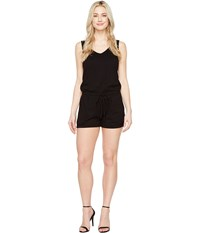 Michael Stars Sleeveless V Neck Romper Black Women's Jumpsuit And Rompers One Piece