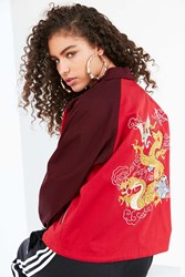 Silence And Noise Olympia Souvenir Coach Jacket Red