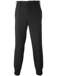 Neil Barrett Gathered Ankle Tailored Trousers Black