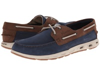 Columbia Bonehead Vent Leather Pfg Collegiate Navy Stone Men's Shoes Blue
