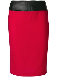 Dolce And Gabbana Vintage High Waisted Tube Skirt Red