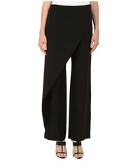 Zac Posen High Waist Wide Leg Trousers Black