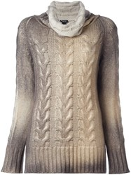 Avant Toi Cable Knit Jumper Nude And Neutrals