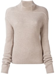 Rick Owens Turtleneck Jumper Nude And Neutrals