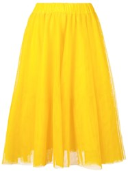 Essentiel Antwerp Full Midi Skirt Women Polyamide Viscose 40 Yellow Orange
