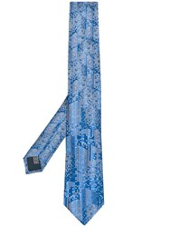 Lanvin All Over Pattern Tie Blue