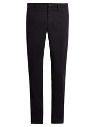Ermenegildo Zegna Cotton Straight Leg Chino Trousers Navy