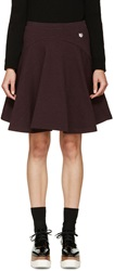 Kenzo Burgundy Fleece Circle Skirt