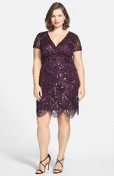 Plus Size Women's Marina Beaded Empire Waist Dress