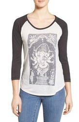 Lucky Brand Women's Graphic Baseball Tee