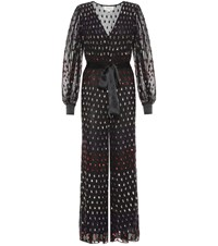 Temperley London Wendy Sequined Tulle Jumpsuit Black
