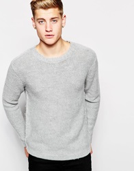 Cheap Monday Crew Knit Jumper Melange Greymelange