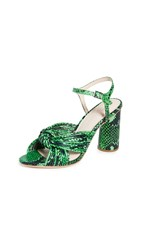 Loeffler Randall Cece High Heel Knot Sandals Kelly Green