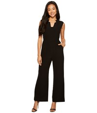 Tahari By Arthur S. Levine Petite Wideleg Jumpsuit Black Women's Jumpsuit And Rompers One Piece