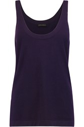 Donna Karan Cashmere Blend Tank Purple