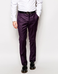 The Grateful Thread Grateful Thread Suit Trousers Deep Plum Red