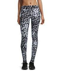 Marc New York Marc Ny Performance Blurry Leopard Print Activewear Leggings Black White