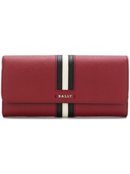Bally Front Striped Square Purse Red