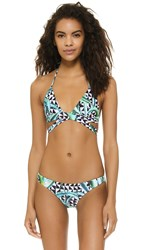 Mara Hoffman Wrap Around Bikini Top Aloe Green