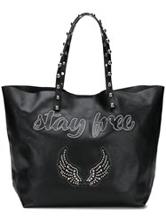 Red Valentino Stay Free Tote Bag Black