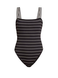 Solid And Striped The Riley Striped Swimsuit Black Stripe