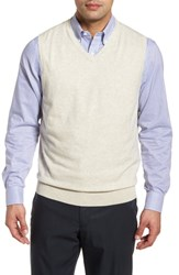 Cutter And Buck Lakemont Classic Fit Sweater Vest Oatmeal Heather