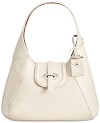 Dooney And Bourke Toscana Stitch Hobo Bone