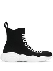 Moschino Sock Styled Sneakers Black
