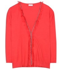 Brunello Cucinelli Cotton Cardigan Red
