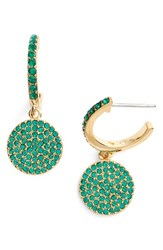 Kate Spade Women's New York Shine On Pave Drop Earrings Green