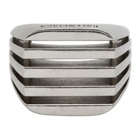 Balenciaga Silver Bone Ring