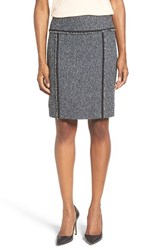 Anne Klein Women's Contrast Trim Boucle Tweed Pencil Skirt