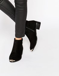 Daisy Street Western Style Heeled Boots Black