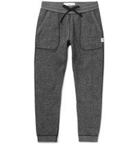 Reigning Champ Tapered Fleece Back Stretch Cotton Jersey Sweatpants Charcoal