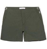Orlebar Brown Bulldog Mid Length Swim Shorts Green