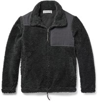 Remi Relief Panelled Fleece Jacket Dark Gray
