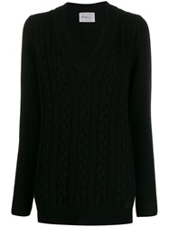 Be Blumarine V Neck Cable Knit Sweater 60