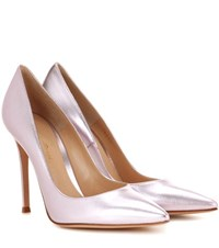 Gianvito Rossi Exclusive To Mytheresa.Com 105 Leather Pumps Metallic