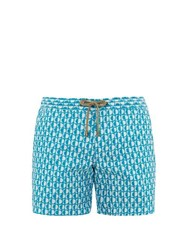 Thorsun Luna Geometric Print Swim Shorts Blue Multi