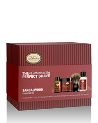 4 Elements Of The Perfect Shave Full Size Kit Sandalwood Brown The Art Of Shaving