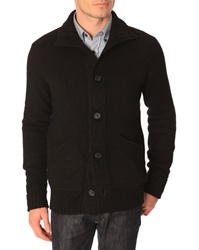 Menlook Label Tanguy 6 Fibre Black Cashmere Cardigan