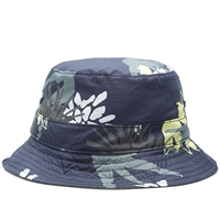 Norse Projects Reversable Flower Bucket Hat Blue