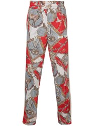 Palm Angels Hot Bridle Track Pants Red