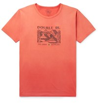 Rrl Printed Cotton Jersey T Shirt Red