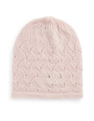 Lord And Taylor Pointelle Cashmere Hat Pink